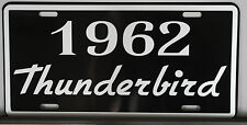 METAL LICENSE PLATE 1962 62 THUNDERBIRD T-BIRD 352 390 FORD CONVERTIBLE ROADSTER