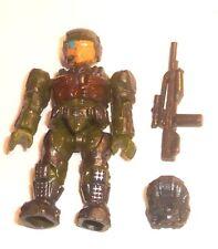 Halo Mega Bloks cifras ~ 2011 Unsc Marine (verde) Mochila Y Rifle De Batalla