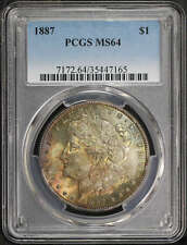 1887 Morgan Silver Dollar PCGS MS-64 Rainbow -171820