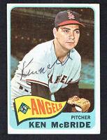 Ken McBride #268 signed autograph auto 1965 Topps Baseball Trading Card