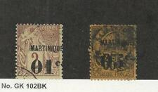 Martinique, Postage Stamp, #9, 15 Used, 1888-91 French Colony