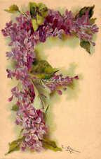 "Vintage Victorian Klein Floral Letter Initial ""F""  2"" x 3"" Fridge Magnet"