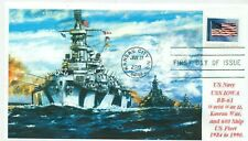 USS IOWA BB-61 USN Battleship Color Painting Museum Vessel Three BBs First Day
