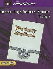 Holt Traditions Warriner's Handbook: Student Edition Grade 9 Third Course 2008