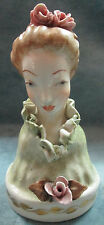 "Vintage Numbered Gold Embellished ""Cordey"" Ceramic Bust Figurine Victorian Lady"