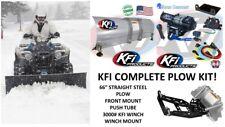 "KFI POLARIS '05-'09 Ranger 700 Snow Plow Complete Kit 66"" Steel Straight Blade"