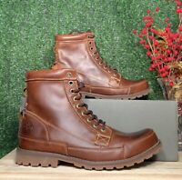 TIMBERLAND MEN EARTHKEEPERS® ORIGINAL LEATHER 6-IN BROWN STYLE 15551 Sz:10 Wide