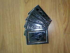 Vintage Westside California Metal Playing Cards Belt Buckle