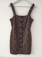 River Island Size 16 Petite NEW Zebra Print Mini Pinafore Dress £30