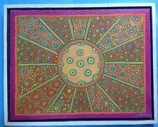 2v3:Popart Ölgemälde Psychedelic Art Flower-Power Hippie Sonne L Sohler Mchn.~74