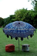 Indian Mandala Cotton Large Patio Outdoor Parasol Umbrella Boho Garden Umbrella