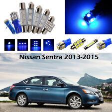 9×Blue LED Interior Light Package Kit for Nissan Sentra 2013-2015