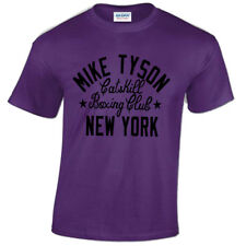 MIKE TYSON MENS T SHIRT BOXING DESIGN IRON GYM TRAINING TOP