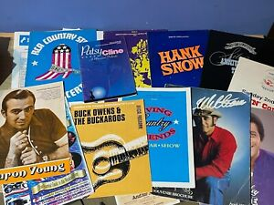 Large Lot Vintage Country Music Concert Programmes Hank Snow Don Williams +++++