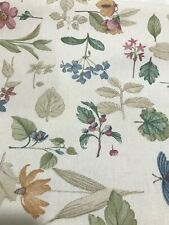 "1 Botanical Fields Longaberger Fabric 5 yard piece uncut 56"" wide New"