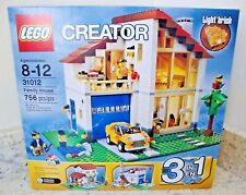 LEGO CREATOR FAMILY HOUSE VILLA 3-in-1 SET #31012- RETIRED/Sealed Imperfect Box