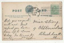 London SW 5 Jun 1905 Seven Bars Machine Postmark 429c