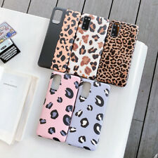 Leopard Pattern Bling Soft Case Cover For Samsung S20 Ultra/S10+/S9/Note10/S8