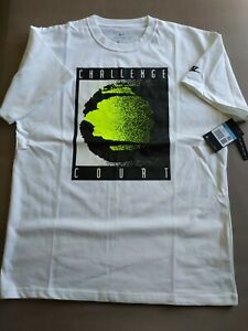 T-shirt tennis NIKE Challenge Court Agassi blanc Taille M NEUF tech