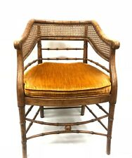 Antique Hekman Cabinets Furniture Faux Bamboo Chair Wooden Mid Century Modern