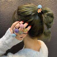 Elastic Head Rope Female Sweet Bead Tie Hair Flower Hair Rope Ponytail Holder/*