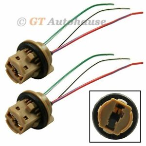 2x 7443 7440 Extension Wire Harness LED Bulb Light Lamp Female Socket Adapter