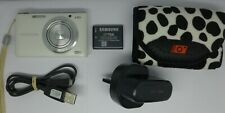 Samsung WB Series ST150F 16.2MP Digital Camera - White + 4 GB Memory Card