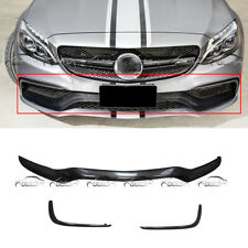 3PC Carbon Fiber Front Center Trim Replacement For Mercedes W205 C-Class C63 AMG