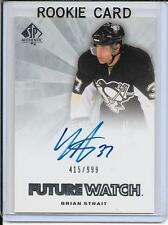 11-12 SP Authentic Brian Strait Future Watch Rookie Auto # 277