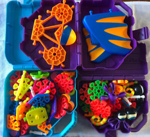 Vintage 2000 Kid K'NEX Construction Connector with Toy Cases Job Lot Bundle Set