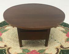 Dollhouse Miniature Handicraft Designs Wood Flip Top Table Furniture