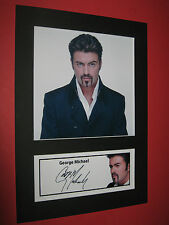 GEORGE MICHAEL A4 PHOTO MOUNT SIGNED PRINTED TICKET CD WHAM LADIES & GENTLEMEN