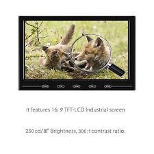 "9"" Ultra-thin LCD Monitor TouchButton AV/VGA/HDMI Input w/Speaker for Raspberry"