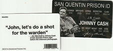 Country Music Legend Johnny Cash San Quentin ID Card driver's Drivers License