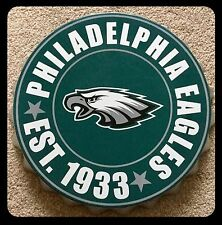 "Philadelphia Eagles NFL Logo Bottle Top 13.5"" Hanging Wall Art Decoration"
