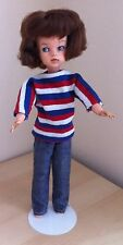 Vintage SINDY 1960s First Issue MIE Auburn Doll in Weekenders Outfit - VGC