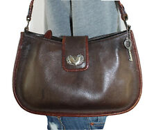 FOSSIL Small Medium Leather Shoulder Hobo Tote Satchel Slouch Purse Bag