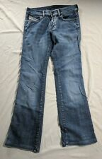 Diesel Womens Rame  Flared Leg Jeans Made in Itay Distressed SIze 28 Inseam 29
