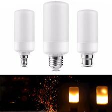 LED Flame Effect Light Bulb B22 E14 SES E27 Fire Burning Flicker Decorative Lamp