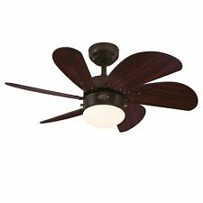 Westinghouse Turbo Swirl Espresso ceiling fan light with pull cord 76 cm 30""