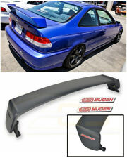 For 96-00 Honda Civic Coupe MUGEN Style Rear Trunk Wing Spoiler Red Emblem Pair