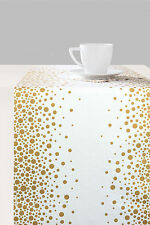 Ambiente Paper Table Runner 33cm x 6m Sparkling Dots Spot Gold Party Wedding