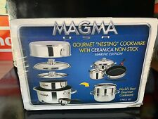 """New listing Magma 7-Piece Professional Series Gourmet """"Nesting� Stainless Steel Marine Edit"""