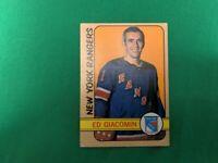 1972-73 Topps Ed Giacomin Goalie NHL #165 New York Rangers ~SHIPS SAME DAY~