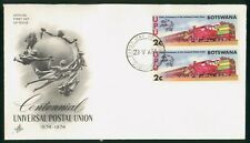 Mayfairstamps Botswana 1974 Trains Art Craft First Day Cover wwo1513
