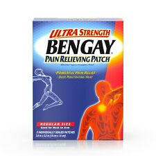 Bengay Ultra Strength, Pain Relieving Patch, Regular Size, 5 Count -3.9 x 5.5 in