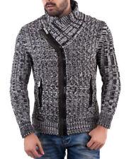 Herren-Pullover & -Strickware mit Norweger-Muster und Reißverschluss L