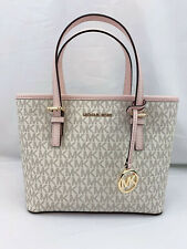 Michael Kors Jet Set Travel XS Tote Canvas Monogram Powder Blush 35T9GTVT0B