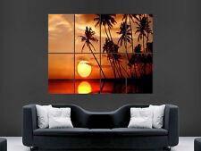 Tropical sunset poster wow beau géant image art grand mur d'impression
