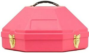 Hard plastic WESTERN COWBOY HAT CARRY CASE in Black Tan Pink color Cowgirl show